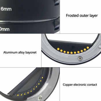 Mcoplus Meike Metal Auto Focus Macro Extension Tube for Sony a6300 a6000 a7 a7iii NEX3 NEX5 NEX6 NEX7 E-Mount Mirrorless Camera