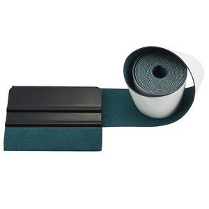 Image 3 - EHDIS 100CM bez zarysowań tkanina zamszowa krawędź na folia z włókna węglowego ściągaczka winylowa naklejka na samochód Auto folia zaciemniająca okna skrobak ochronny