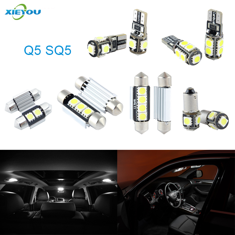 XIEYOU 22pcs LED Canbus Interior Lights Kit Package For Audi Q5