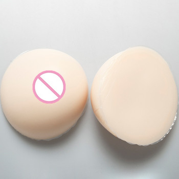 1800g/pair Crossdresser Drag Queen Boobs White Silicone Breast Form Transsexuals CD Silicone Breast Implants Cup F