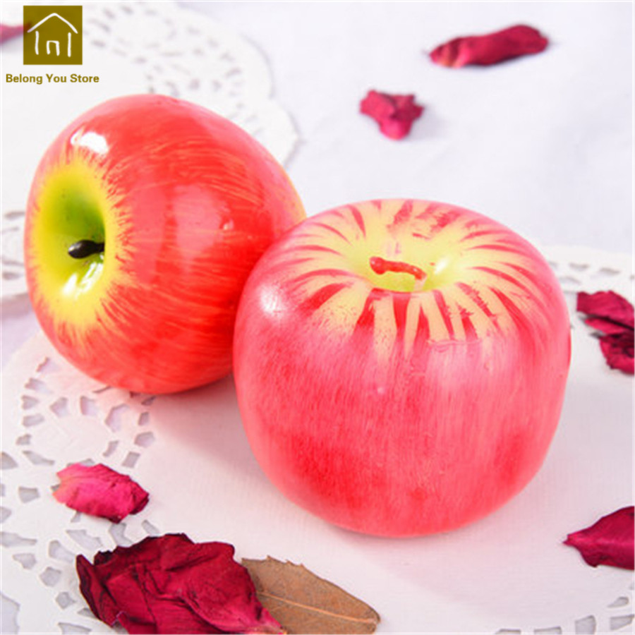 Fruit Candle Apple Wedding Decoration Home Wick Smokeless Fragrant Candle Decorative Candles Wax Home Decor Scented JKK175