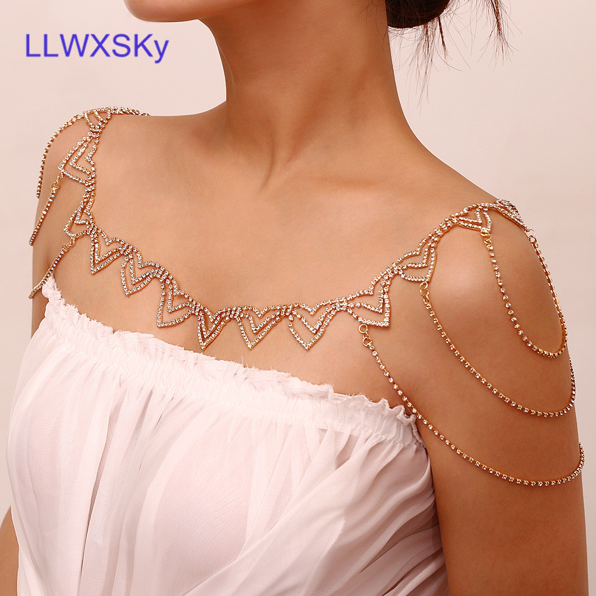 Women's Fashion Sophisticated Shawl Chain Pop Sexy Hollow  Shawl Chain Clothing Accessories