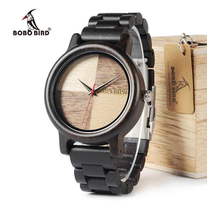 BOBO BIRD WN07 Newest Wooden Watches Ebony Wood Band Natural Wood Face Quartz Watch For Men Women Accept OEM Customize bobo bird l b07 bamboo wooden women watches for men casual wood dial face 2035 quartz watch soft silicone strap extra band