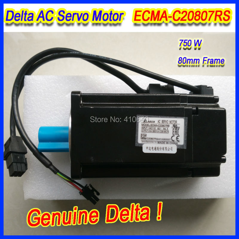 все цены на Genuine Delta AC Servo Motor ECMA-C20807RS with 750W power 220V voltage and 3000 rpm speed 80mm frame FREE SHIPPING! онлайн