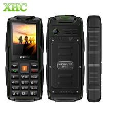 "Original VKworld New Stone V3 IP68 Impermeable 2.4 ""3000mAh Tri tarjeta SIM con el teclado Ruso teléfono FM linterna LED durable"