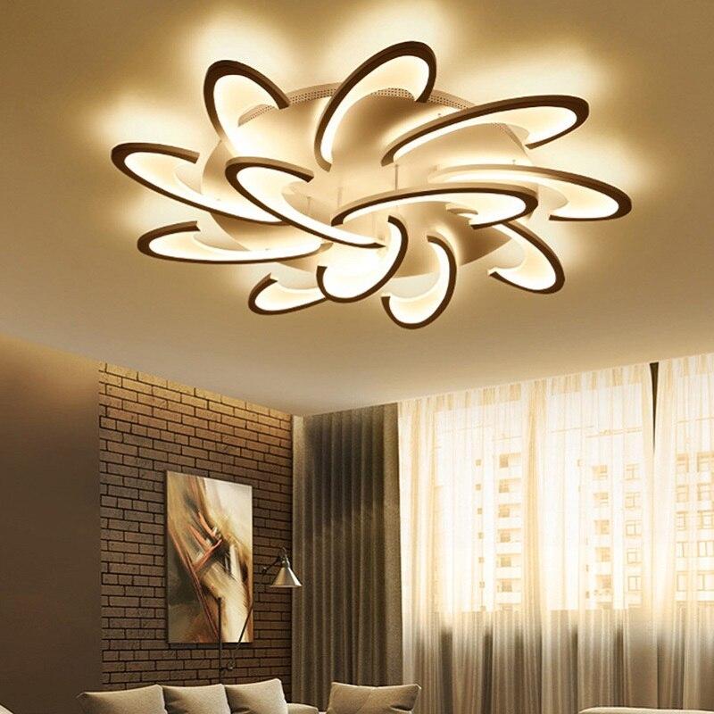 New Design Acrylic Modern Led Ceiling chandelier For Living Room Bedroom lampe plafond avize Indoor led chandelier lustres