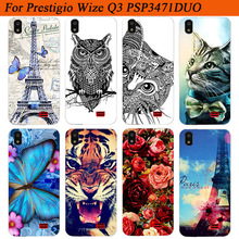 For Prestigio Wize Q3 Case Cover Silicon Diy Colored Tiger O