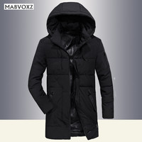 Winter Snow 25 Degree Men Parkas Long Style Fashion 2018 Thick Warm Windbreaker Loose Hooded Mens Jackets and Coats AFSJEEP
