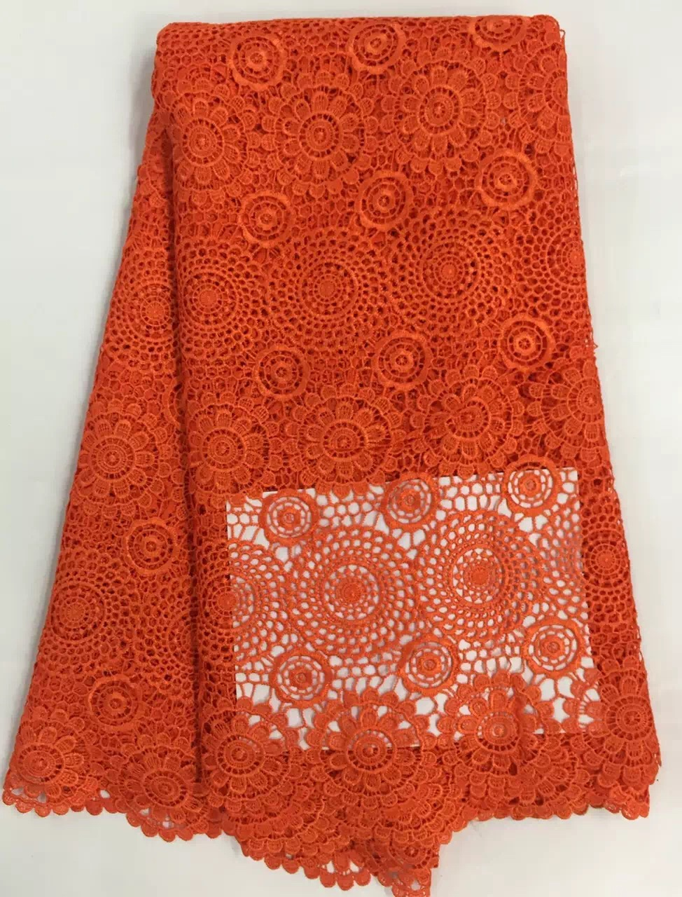 CW2023 Cordón de cordón de guipur nigeriano de poliéster africano - Artes, artesanía y costura - foto 2