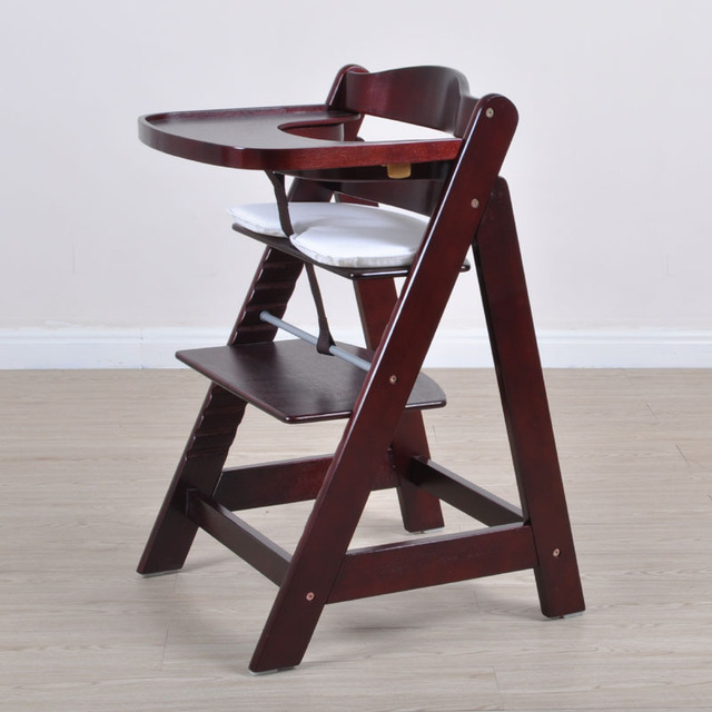 Multifunctional Baby Child Solid Wood Dining Chair Baby Dining Chair Solid  Wood Baby Chair With Tray