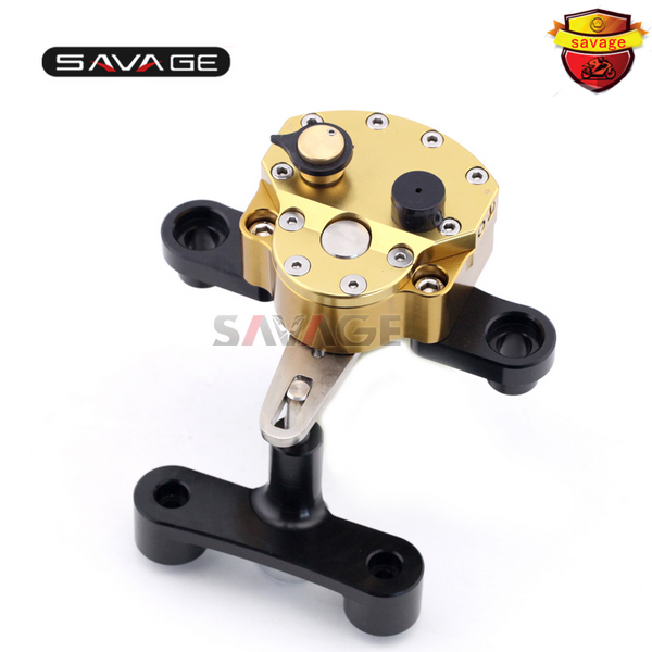 For SUZUKI GSX1300R HAYABUSA 2008 2015 09 10 11 12 13 14 Motorcycle Adjustable Steering Damper Stabilizer with Mount Bracket