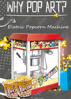 VBG1608 commercial automatic electric popcorn machine maker with big volume 8oz series 2