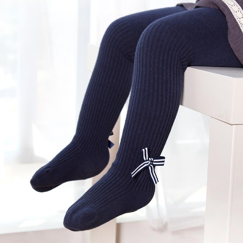 Зима младенческой детские колготки для Обувь для девочек плотный хлопок Повседневное Колготки для новорождённых колено высокие плотные де...