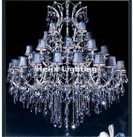 Modern European Blue Clear D150cm35 Arms E14 LED Royal Crystal Chandelier Hotel Lobby Modern Crystal Chandelier 100% Guaranteed