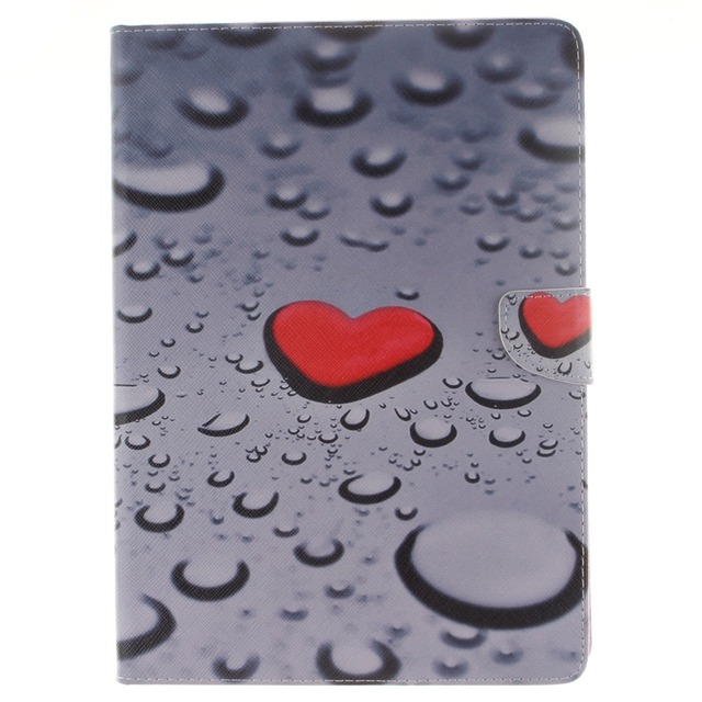 03ac0cbdf8 Red Heart Pattern PU Leather Full Body Case with Stand for iPad Air ...