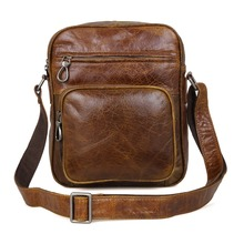JMD Vintage Tanned Genuine Cow Leather Lady Cross Bady Purse Messenger Bag Sling For Men 1008B