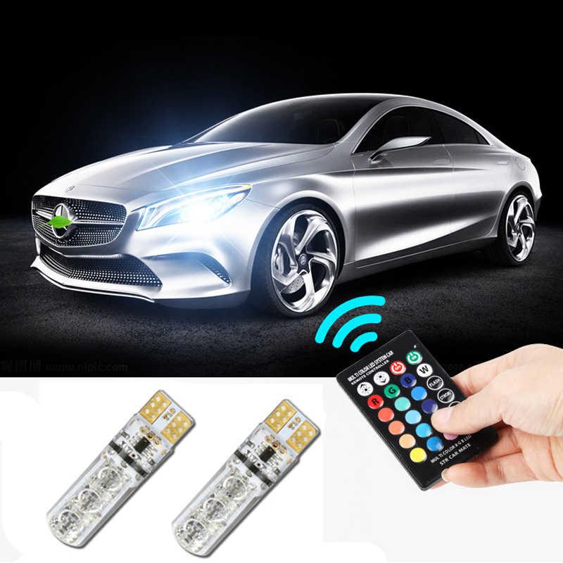 T10 W5W araba Canbus LED RGB park ışıkları için Hyundai solaris accent i30 ix35 i20 elantra santa fe tucson getz