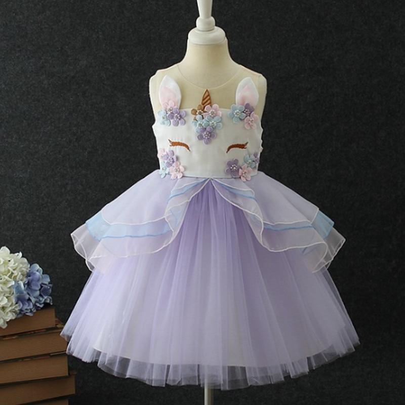 HTB1VrmOXRgXBuNjt hNq6yEiFXae New Girls Dress 3Pcs Kids Dresses For Girl Unicorn Party Dress Christmas Carnival Costume Child Princess Dress 3 5 6 8 9 10 Year