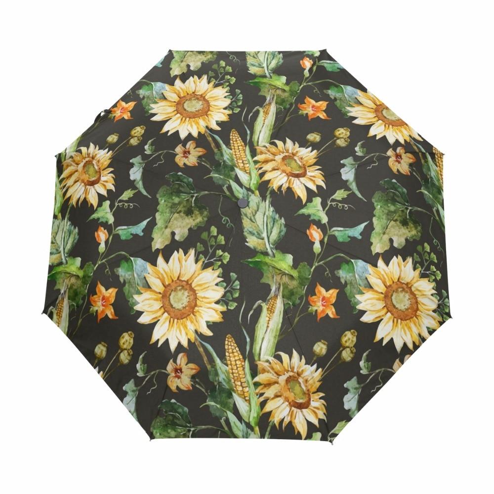 Umbrella Painting Style Custom Umbrella Automatic Folding Umbrella Rainproof /& Windprrof