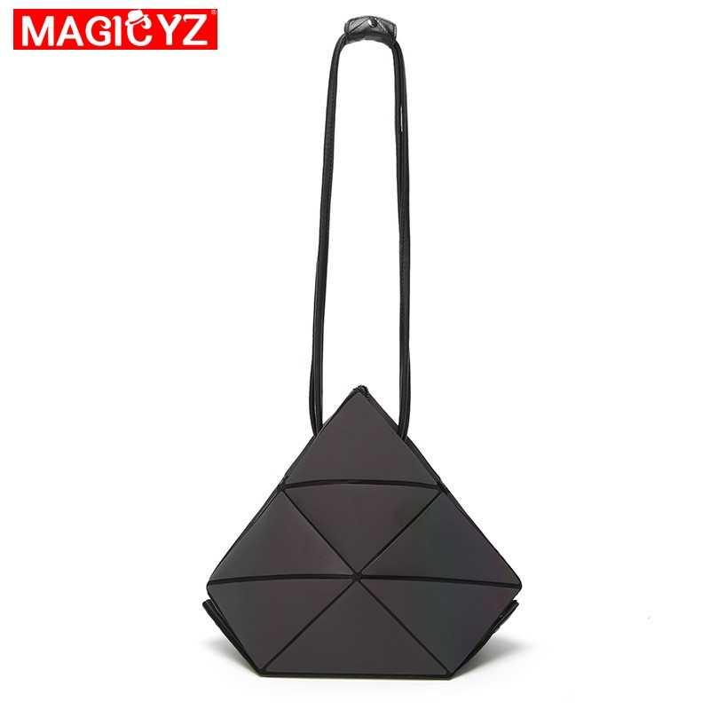 Bolso MAGICYZ para mujer, bolso geométrico luminoso plegable, bolso de marca de lujo para mujer, bolso de diseñador con rejilla de diamantes, bolsos para mujer