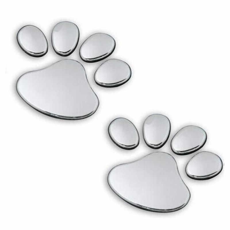 2PCS สัตว์เลี้ยงสัตว์เลี้ยง Paw Footprints Emblem รถบรรทุกรถบรรทุกตกแต่ง 3D สติกเกอร์รูปลอก