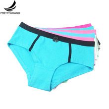 Prettywowgo 6 pcs/lot Europe America Intimates Women Solid Color Cotton Briefs Ladies Panties Knickers Underwear M L XL 9060