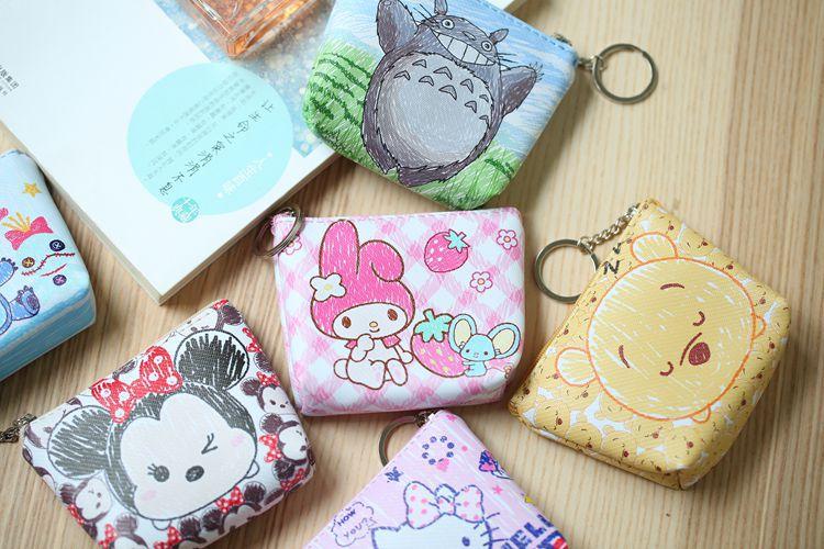 HTB1VrmcNhjaK1RjSZFAq6zdLFXas Disney children cartoon purse Coin Mickey Mouse coin bag girl boy gift handbag storage key pendant bag kid packet wallet Frozen