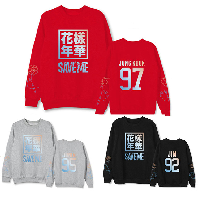 27cbf09536 BTS surrounding bulletproof youth group sweatshirts pattern Nana SAVEME  with the same paragraph head round neck