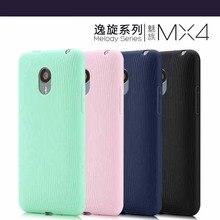 Для Meizu MX4 Оригинальные известный бренд 4 цвета Самые дешевые Мягкие TPU силиконовой резины обложка телефон сумка-чехол Бесплатная Доставка