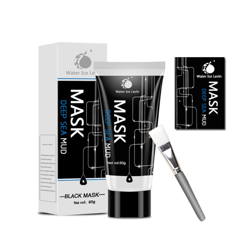Effective Blackhead Mask Deep Sea Mud Mask Black Mask For the Face Oil-control Pores Shrinking Face Blackhead Removal Acne