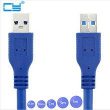 USB 3.0 Macho para USB 3.0 Masculino Cabo de Extensão de 0.3m 0.6m 1 USB3.0 m 1.5m 1.8m 3m 5m 1ft 2ft 3ft 5ft 6ft 10ft 30cm 60 centímetros 100 centímetros 150 centímetros