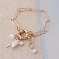 NeeFu WoFu perlas de agua dulce Pulsera de nacionalidad manual pulseras Pulsera de piedra Mujer de Bohemia brazalete de joyería