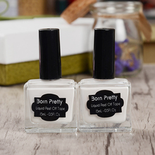 1 Pelar el Líquido Botella 15 ml Nacido Bastante Blanco Cinta Del Arte Del Clavo Líquido Empalizada Nail Art de Látex #22612
