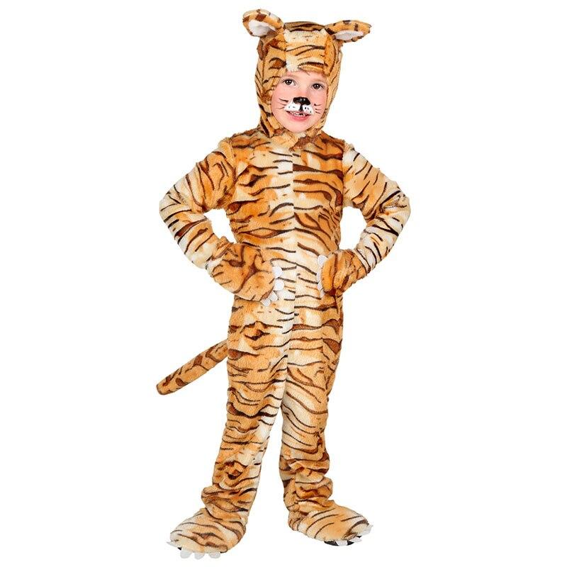 nio pequeo tigre trajes de cosplay invierno impresin leopar traje warm winter dress up animal para