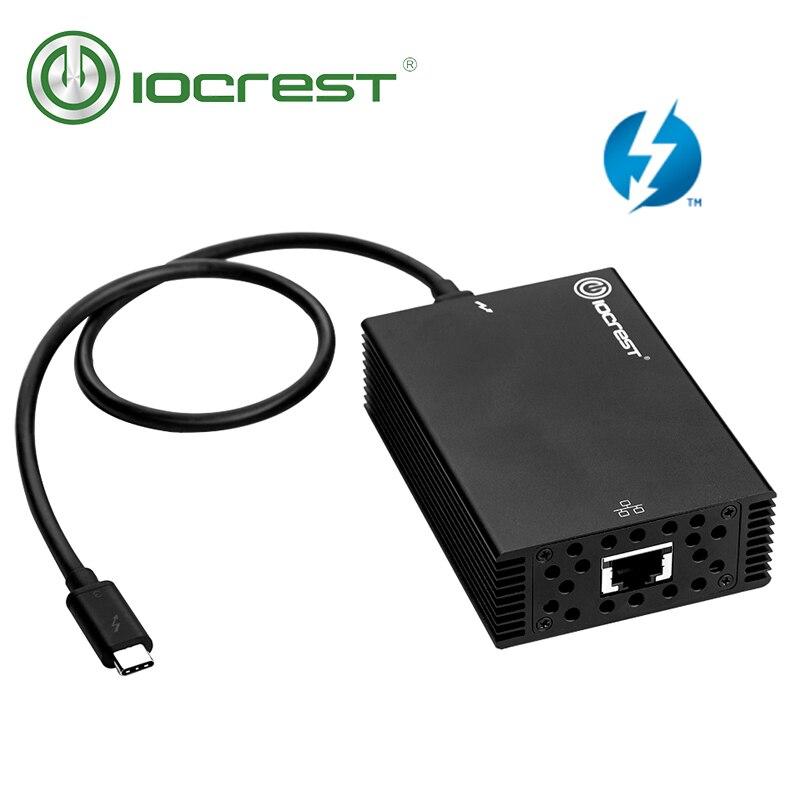 IOCREST USB Type-C thunderbolt 3 to 10 gigabit intel chipset network adapter pass thunderbolt 3 certification support MacOS