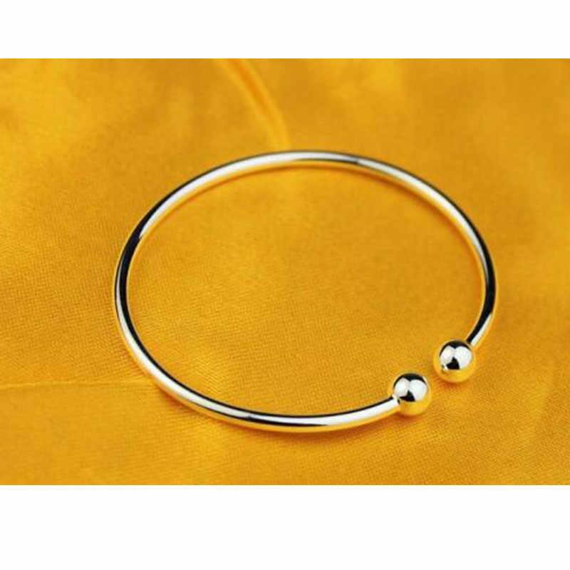 Zilver Kleur S925 Stempel Klassieke Open Manchet Armbanden & Bangles Voor Vrouwen Mode-sieraden Pulseras S-B14