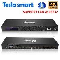DHL Бесплатная Тесла smart 4K2K Высокое качество 8 в 8 из HDMI Matrix 8x8 с RS232/LAN 2 шт. 1U уши стойки cверхвысокая чёткость 4k Full HD 1080p 3D