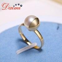 Даими 8 8,5 мм Akoya кольцо 9 К Золотое кольцо втирают круглый жемчуг кольца