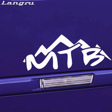 Langru MTB Downhill Mountain Vinyl Decor Decals Cute And Interesting Bike Car Truck Window Jdm(China)