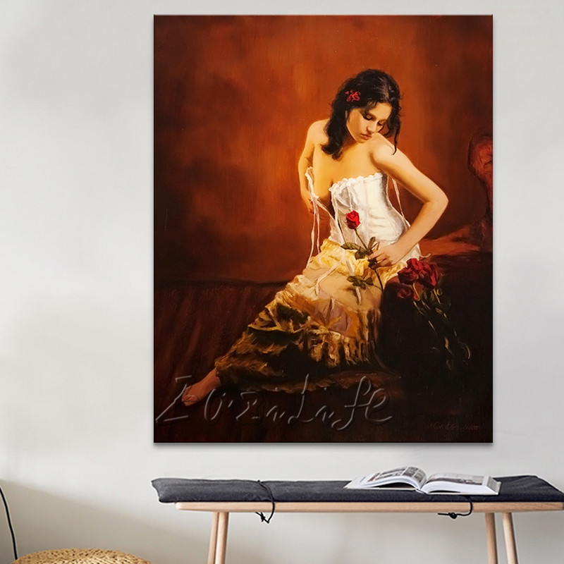 Lovers nude oil painting Sexy wall art oil painting Nude women Oil painting on canvas hight Quality Hand-painted Painting 30