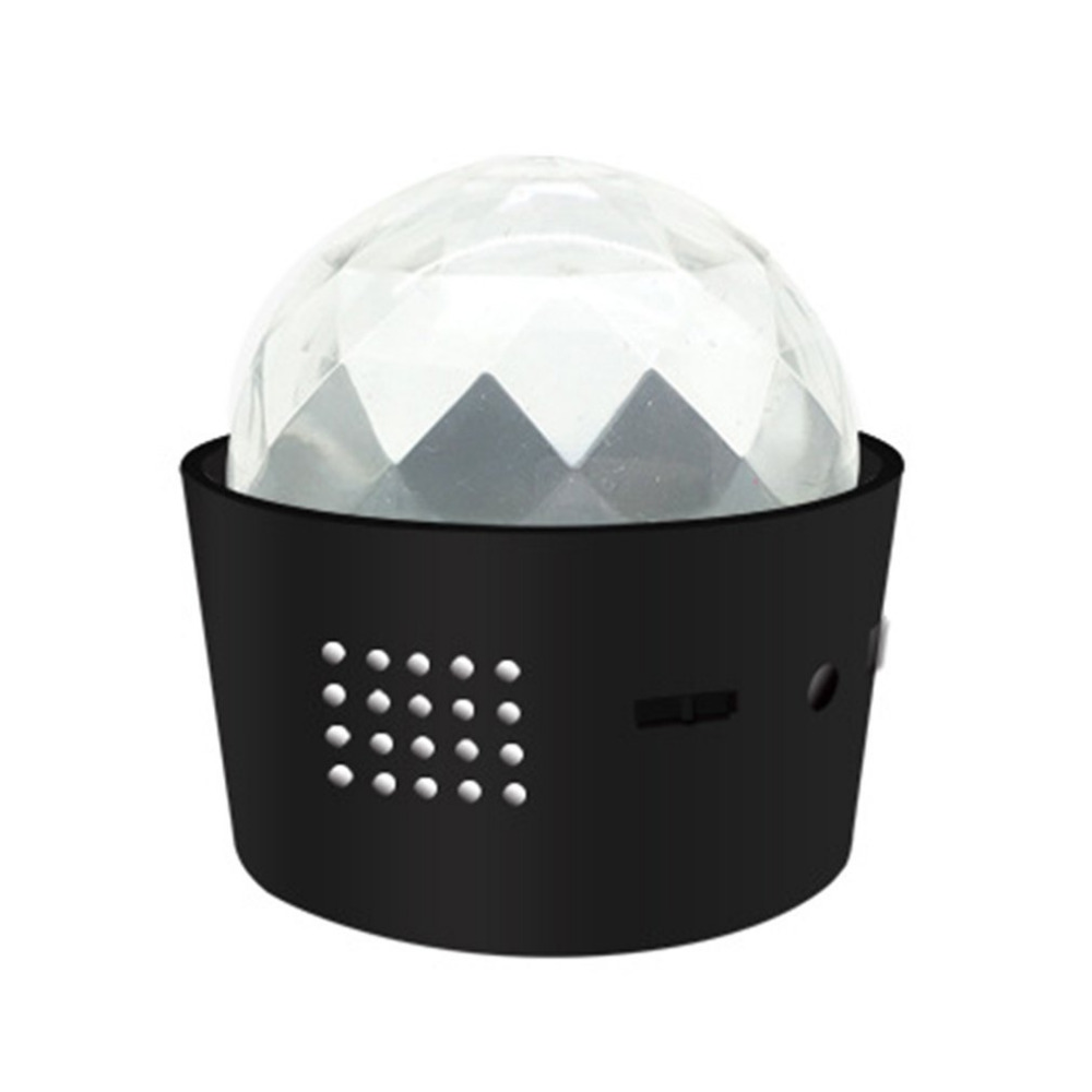 USB Rechargeable Sound Control LED Party DJ Lights Mini Ball Stage Light with Built-in Sound Sensor Gift Quality