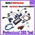 Топ Продаж NEXIQ USB Link NEXIQ 2 Дизель Грузовик Диагностический инструмент NEXIQ2 Полный Комплект USB Link Heavy Duty Truck С программное обеспечение