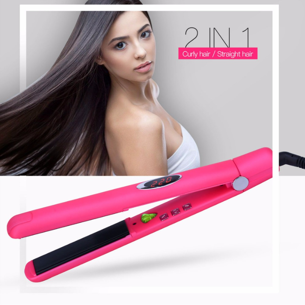 CkeyiN Infrared Hair Straightener Ceramic Straightening Irons Hair LED Digital Straightener 3D Floating Plate iron Hair 3536 mch flexible 3d floating ceramic wide plates flat iron far infrared hair straightener straightening curling with negative ions