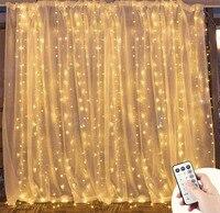 HarrisonTek 3X3M Christmas Garlands LED String Christmas Net Lights Fairy Xmas Party Garden Wedding Decoration Curtain Lights