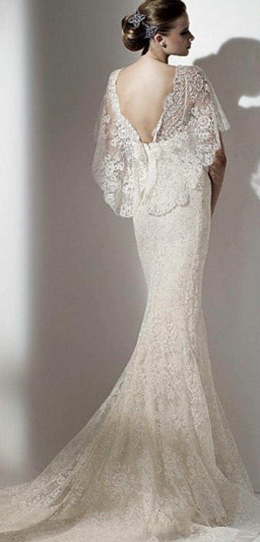 ivory pure silk bohemian wedding dress bell sleeve wedding dress Bell ANGEL SLEEVES elegant boho wedding gown zoom