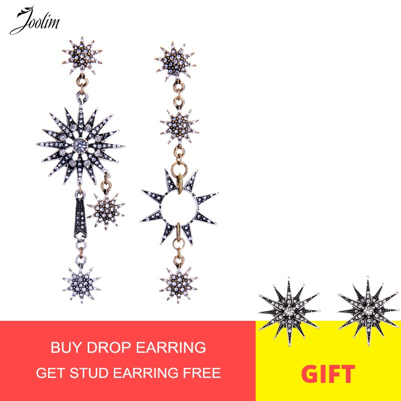 JOOLIM Jewelry Vintage Starburst Mismatching Earring High Quality Bulk Wholesale