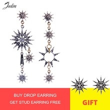 JOOLIM Jewelry Vintage Starburst Mismatching Earring High Quality Bulk Earring Wholesale High Quality все цены