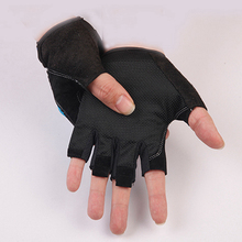 Half Finger Men Pu Durable Anti-Slip Anti-Cut Pesca Sport Fishing Gloves Tackle Four Seasons  Luvas Free shipping