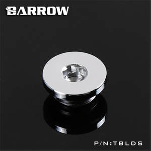 Barrow Fitting Stop-Plug Water-Cooling-Tblds Ultra-Thin Black White for Gold Silver Inner-Six-Angle