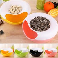 1Pcs Melon Seeds Storage Bowl Table Candy Snacks Dry Fruit Holder Nut Box Plate Dish Tray